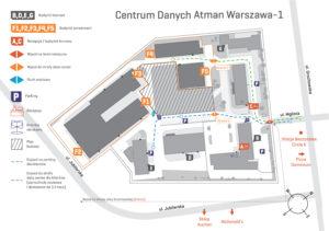 Plan sytuacyjny z nową organizacją ruchu
