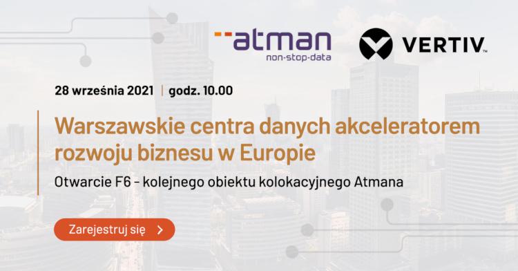 Zaproszenie na wydarzenie Warszawskie centra danych akceleratorem rozwoju biznesu w Europie